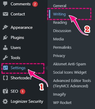 WordPress Ping List Service